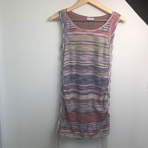 Zara Trafaluc striped dress with side lacing
